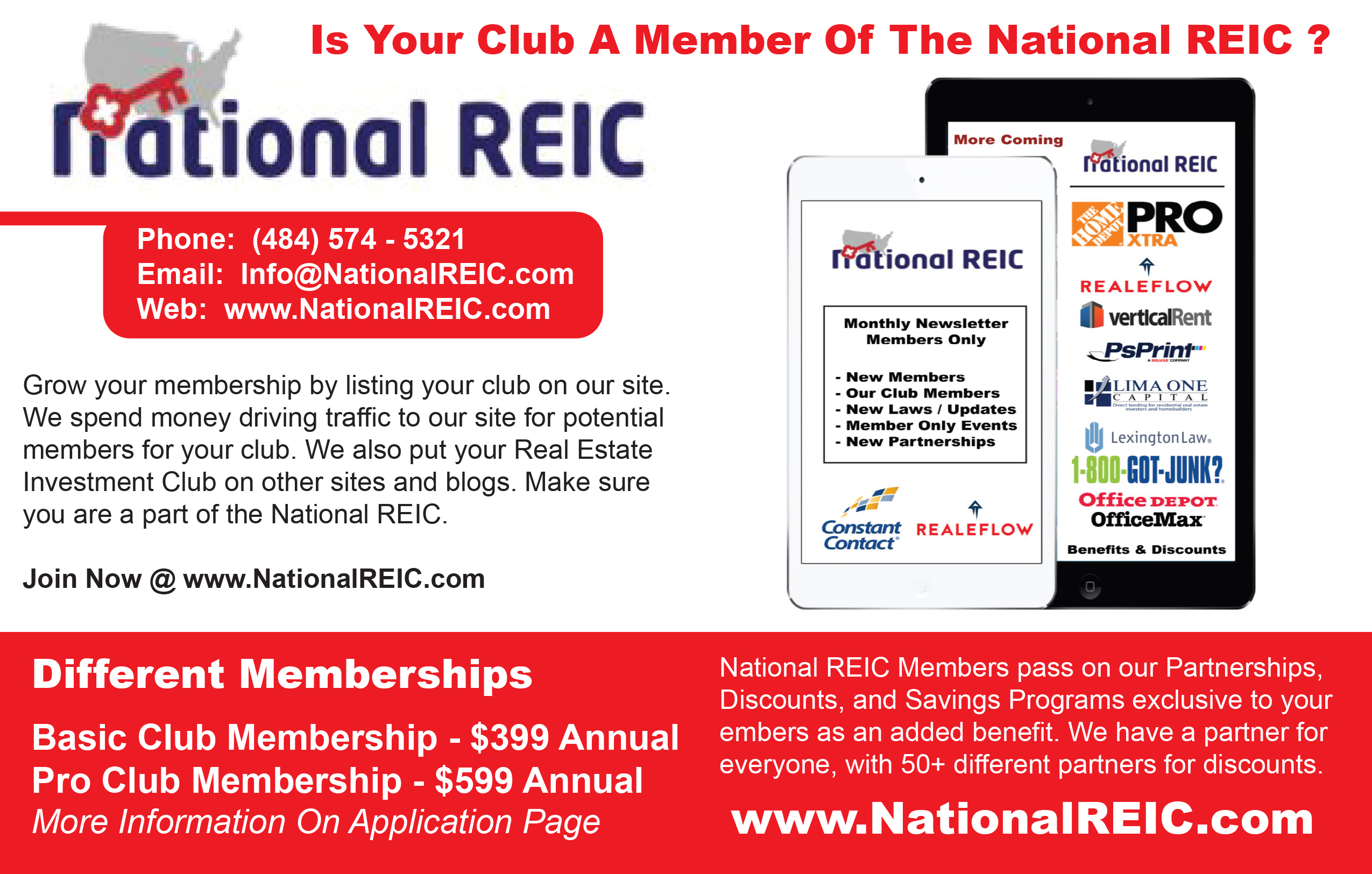 National REIC half page ad